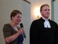 Silvia Teuwsen vom Ambulanten Ev. Hospizdienst Siegerland und Pfarrer Frank Boes