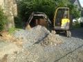 Bauarbeiten mittendrin