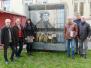Präsentation der von Tzveta Grebe künstlerisch gestalteten Wärmepumpe neben der Talkirche 10.03.2017
