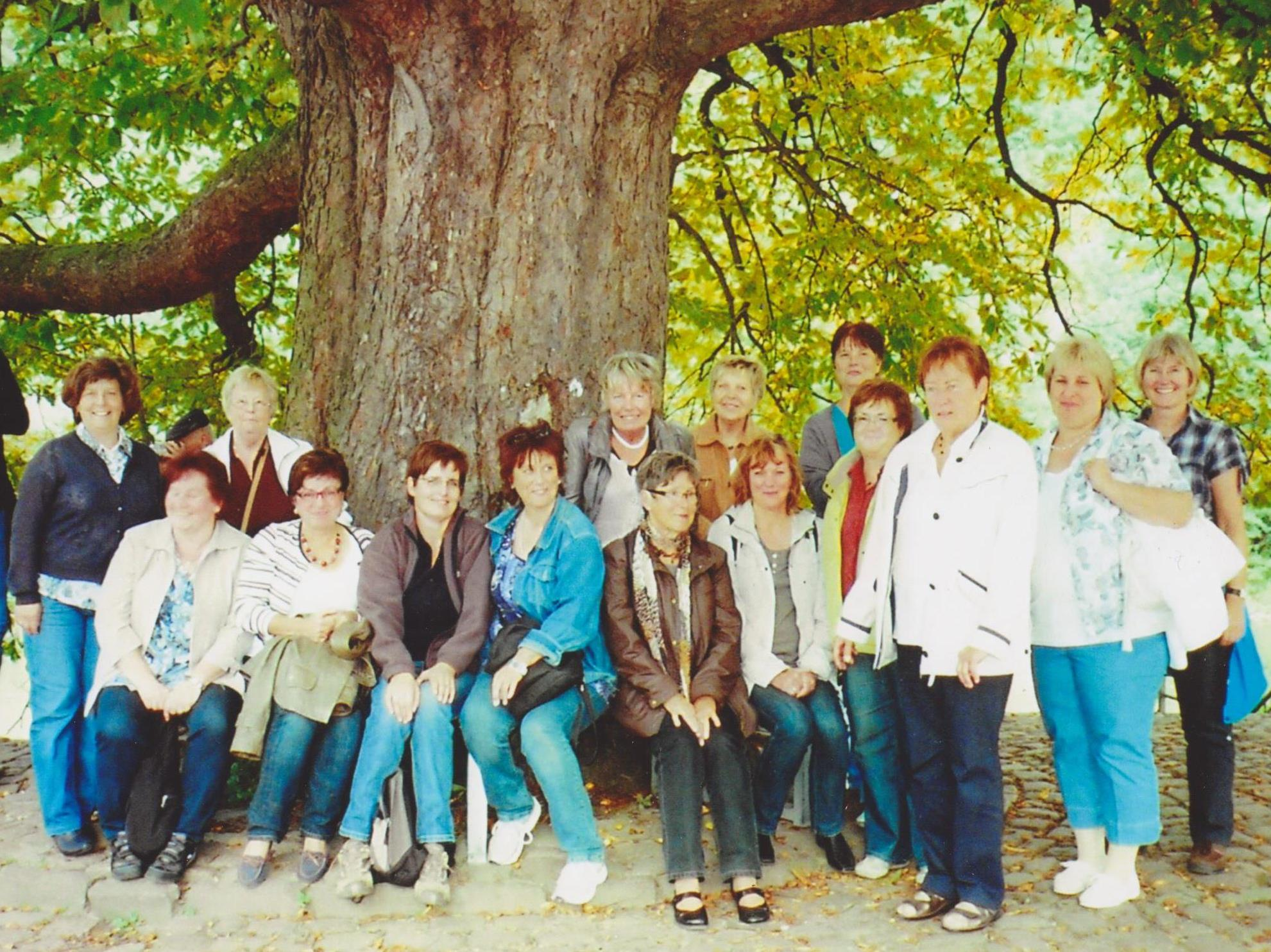 September 2011 Gruppenfoto am Weserstein