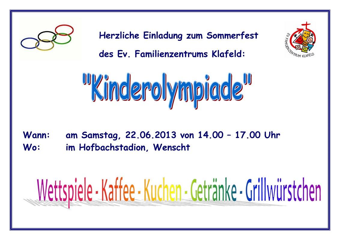 Sommerfest 2013 Familienzentrum