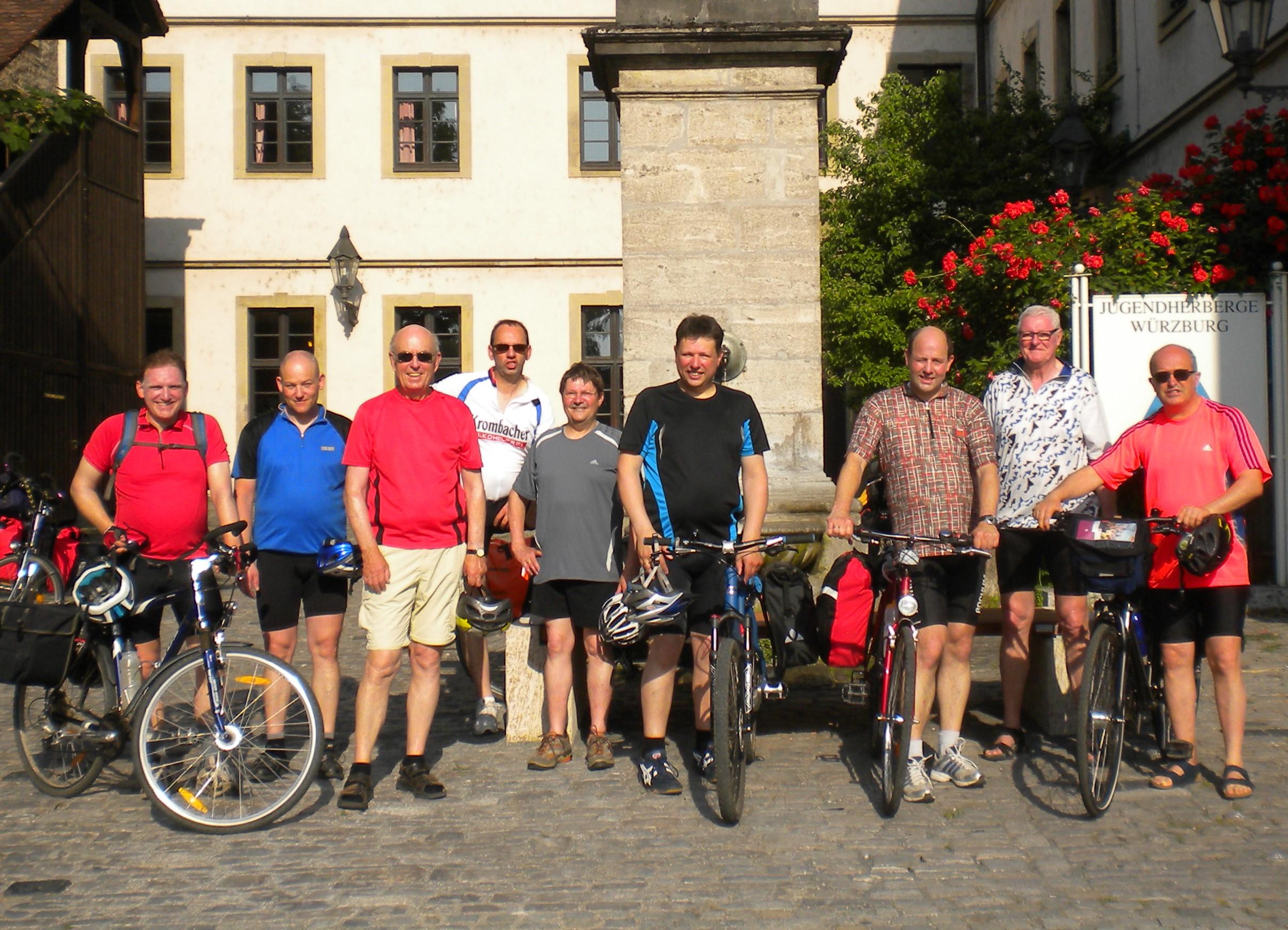 Gruppenbild Männerradtour 2013