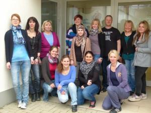 Ulrike Belchert mit ihrem Kita-Team
