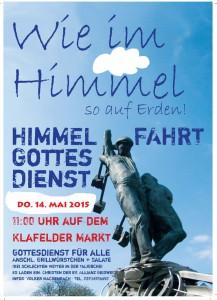 Flyer DIN A 6 Himmelfahrt 2015