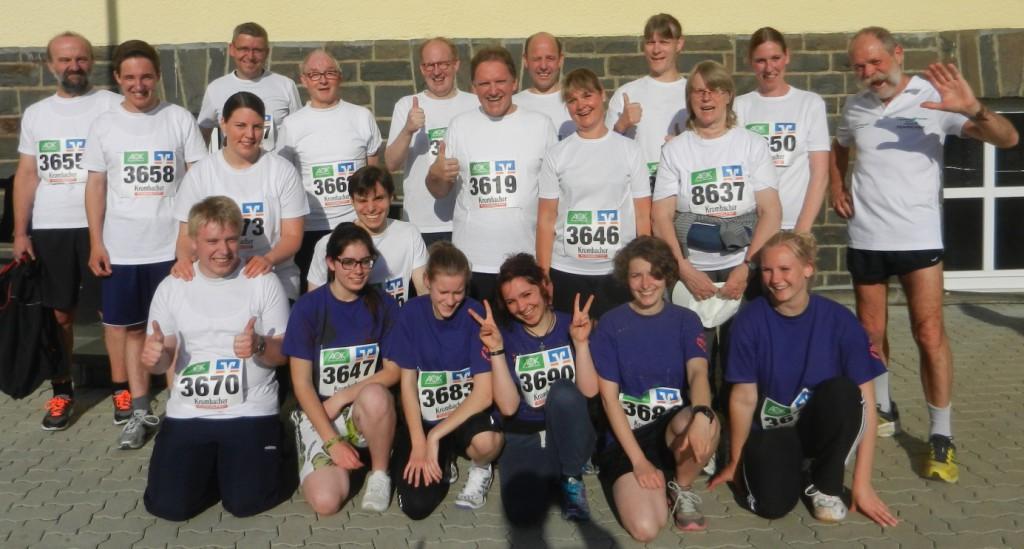 Gruppenfoto vor dem Start zum 12. Firmenlauf