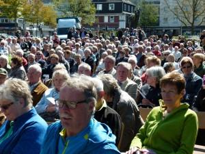 Der Open-Air-Gottesdienst auf dem Marktplatz wird immer beliebter