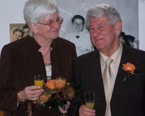 Helga und Albert Fricke bei ihrer Goldenen Hochzeit im Jahr 2008